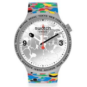 Swatch x BAPE MULTI CAMO